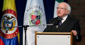 President Michael D Higgins. His election to a second term or replacement by a rival will exert influence on when the next general election will be held. Photograph: Leonardo Munoz/EPA