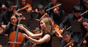 Mirga Grazinyte-Tyla: 'I think that there is this incredible power of music to influence us and infect us'. Photograph: Hiroyuki Ito/Getty Images