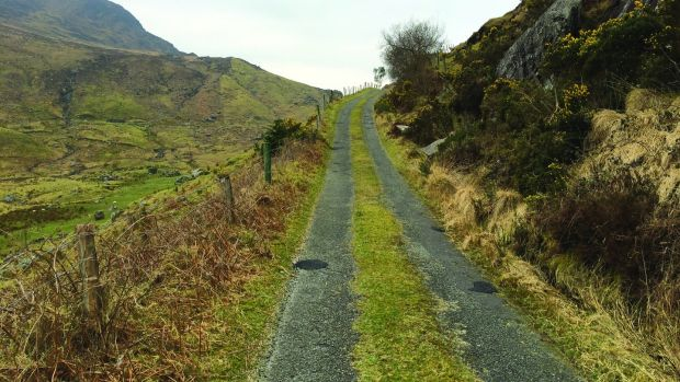 The grassy roads between the Black Valley and Lough Brin