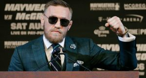 Don't knock it: MMA fighter Conor McGregor. Photograph: John Locher/AP