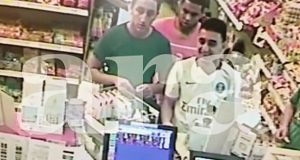 A CCTV grab made available by Spanish newspaper Ara shows Omar Hychami, Houssaine Abouyaaquob and Moussa Oukabir at a petrol  station hours before their attack in Cambril, Catalonia,  last Friday. Photograph: Diario Ara/EFE