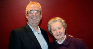 Rory Cowan with his mother, Esther, in 2012. Photograph: Dave Meehan