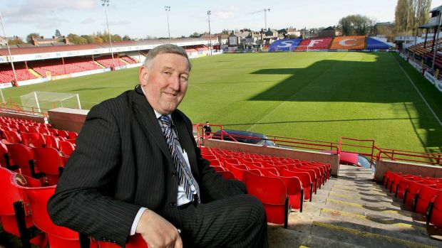 Ollie Byrne pictured in Tolka Park during his time as chief executive of Shels. Photo: Inpho