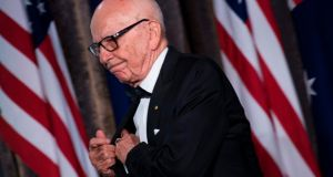 Rupert Murdoch, executive chairman of News Corp. Photograph:  Brendan Smialowski/AFP/Getty Images