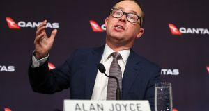 Alan Joyce, chief executive of Qantas Airways: The buybacks underscore the success of Mr Joyce's efforts to turn around the company through a series of cost-saving measures