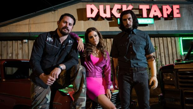Channing Tatum, Riley Keough and Adam Driver in Logan Lucky