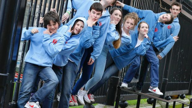 Members of the Wexford Youth Theatre celebrate the contribution of youth arts to the lives of young people and to Irish society. Photograph: Marc O'Sullivan
