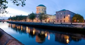 "The Four Courts in Dublin. Courtsdesk, a news and data service, will ""make getting access to the courts a 21st-century tool"", according to its founder, Enda Leahy."