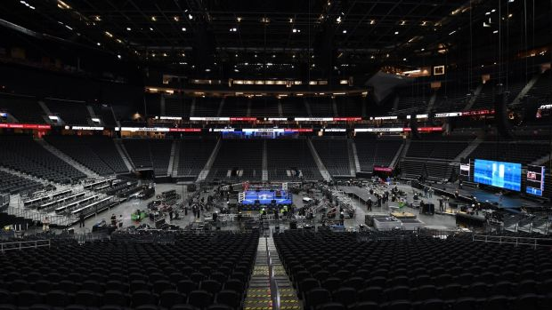 Inside the T-Mobile Arena in which the fighters will face off. Photo: Ethan Miller/Getty Images