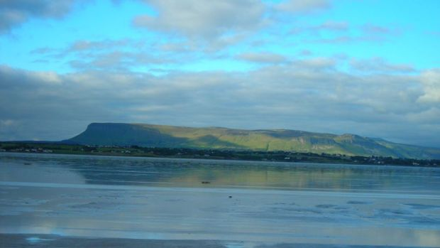 Ben Bulben viewed from the causeway to Coney Island