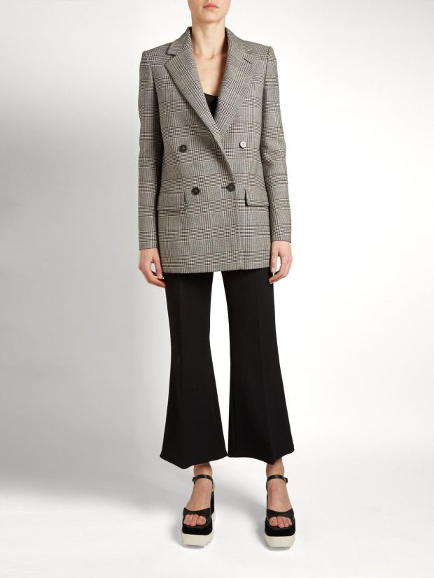 Milly Prince of Wales checked wool-blend blazer €1,165 Stella McCartney