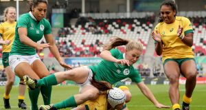 Scrumhalf Nicole Cronin has had an outstanding World Cup for Ireland. Photograph:   Dan Sheridan/Inpho