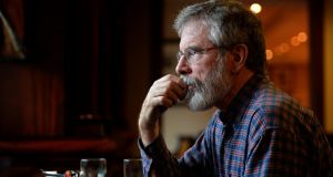 Sinn Féin's Gerry Adams: is the party starting a move on coalition? Photograph: Eric Luke