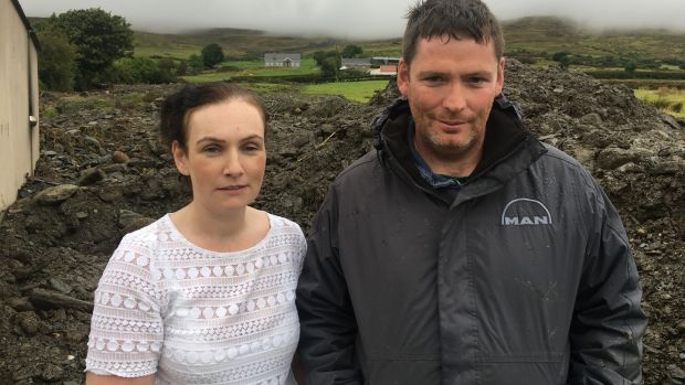 Gerald and Jacqueline Gallagher: concrete outhouses may have saved the family. Photograph: Peter Murtagh
