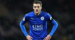 Jamie Vardy could return to the Leicester City team for the Saturday evening trip to play Manchester United. Photograph:   Scott Heppell/PA Wire