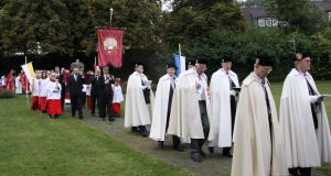 A procession in which St Oliver Plunkett is venerated in Lamspringe, Lower Saxony, Germany, pictured in late August 2013. File photograph: Wikimedia Commons