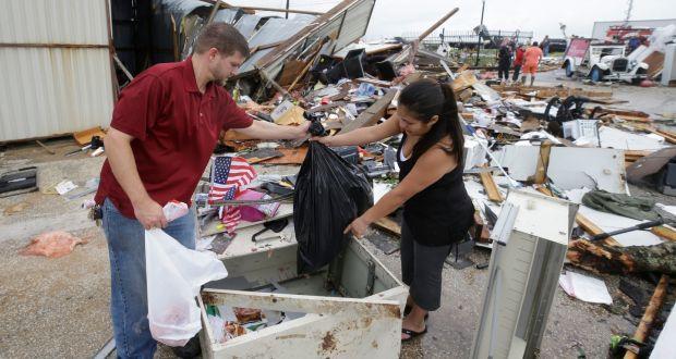 Houston expects flooding as Hurricane Harvey passes through