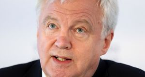 David Davis will warn Brussels not to 'drag its feet' in discussions. Photograph: Jonathan Brady/PA Wire
