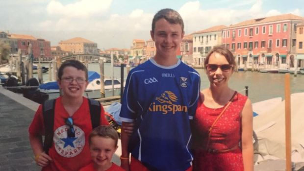Left to right: Niall, Ryan, Liam and Clodagh Hawe. Photograph: Jacqueline Connolly