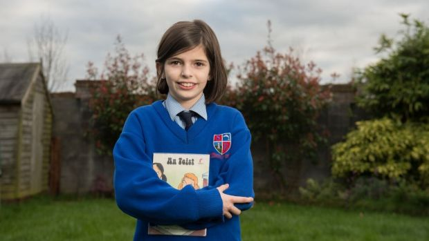 Sinéad Boland, who is now preparing to go into fifth class in her local Gaelscoil in Navan, Co Meath, loves Irish and is thriving socially