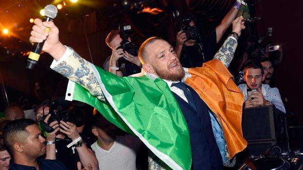 Conor McGregor attends his after fight party at the Encore Beach Club. Photograph: David Becker/Getty Images