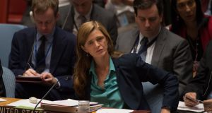Samantha Power: 'I think you see from the alt-right's own language how the unsayable is now said, the unthinkable is now thinkable'. File photograph: Bryan R Smith/Getty Images