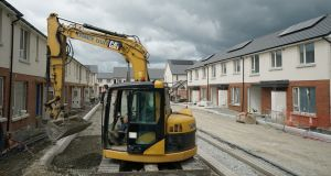 Some of the 200 homes that are currently under construction in Adamstown, Co Dublin. Photograph: Enda O'Dowd