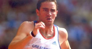 Andrew Steele competing at Beijing 2008