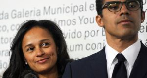 Angolan businesswoman Isabel dos Santos,  daughter of outgoing Angolan president Jose Eduardo dos Santos, and her husband Sindika Dokolo. Dos Santos has acquired big stakes in Portugal's banks and other businesses. Photograph: Fernando Veludo/AFP/Getty Images