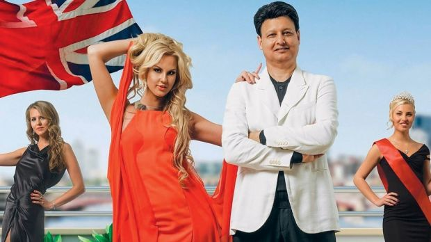 Kamaliya and her husband in the reality TV show Meet the Russians