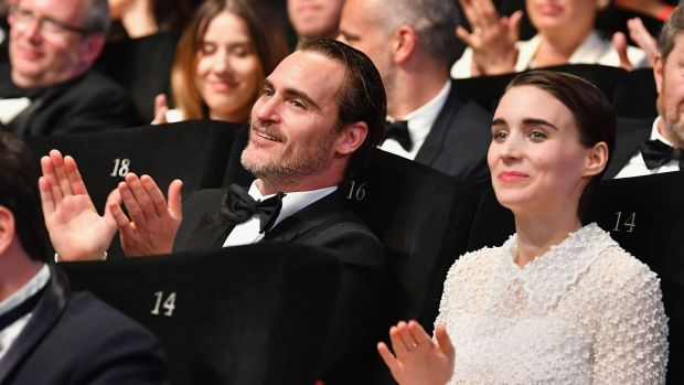 Joaquin Phoenix and Rooney Mara at the closing ceremony of the Cannes Film Festival in May. Photograph: Pascal Le Segretain/Getty Images