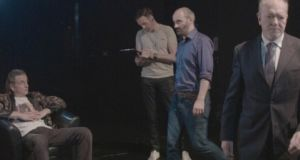 Actors Joe McKinney, Tom Neville,  Michael Bates and Gerry Shanahan in a scene from Full Circle.