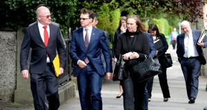 Aidan O'Brien arriving at the Labour Court on Monday for a hearing about Ballydoyle's work practices. Photograph: Cyril Byrne