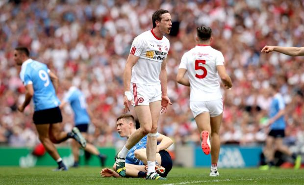 Apart from Colm Cavanagh, there was no apparent desire or will to win and no fire from Tyrone. Why? Perhaps the younger lads wilted on what was a big occasion. Photograph: Ryan Byrne/Inpho