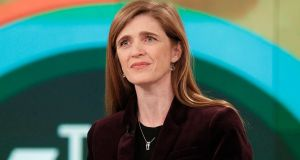 Samantha Power said that she was  confident for the future as the election of Donald Trump had resulted in a lot more young people becoming active in politics. Photograph: Lou Rocco/ABC via Getty Images