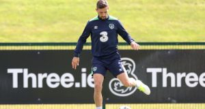 Ireland's Conor Hourihane in training ahead of the 2018 World Cup qualifiers with Georgia and Serbia. Photo: Inpho