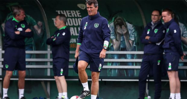 6237a1026b5 Ireland assistant coach Roy Keane at training in Abbotstown on Tuesday  ahead of the World Cup