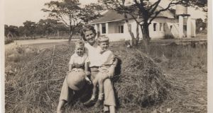 The author, right, with his Dublin-born mother and his brother in Rhodesia, now Zimbabwe