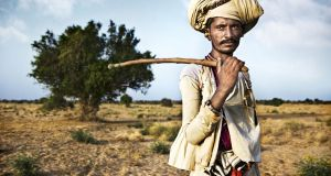 A Rabari man on the outskirts of the 'Little Rann of Kutch'
