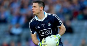 "Dublin goalkeeper Stephen Cluxton. ""Everything that is good about Dublin in a general sense starts with Cluxton in a specific sense."" Photograph: James Crombie/Inpho"