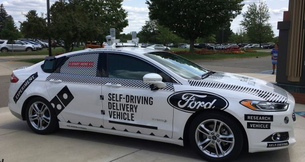 Trials of self-driving pizza delivery cars get under way