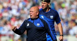 Waterford's selector Dan Shanahan and manager Derek McGrath: McGrath offers up  Shanahan as  proof the entire squad have bought into their style of play. Photograph: Inpho