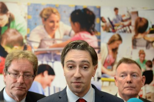 CHILDREN'S HEALTH BILL: Minister for Health Simon Harris (centre) with Dr Jim Browne, chair of the Children's Hospital Group (left) and Seán Sheehan, chair, Temple Street Children's University Hospital, marking publication of the general scheme of the Children's Health Bill 2017. Photograph: Dara Mac Dónaill/The Irish Times