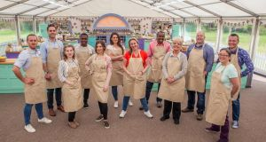 This year's contestants on the new Channel 4 series of the 'Great British Bake Off': Back row: Steven, Tom, Liam, Sophie, Peter, James, Chris. Front row: Julia, Kate, Stacey, Flo, Yan. Photograph: Channel 4
