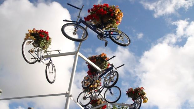 Wheelies in the sky above Tullamore for the Healthy Town initiative
