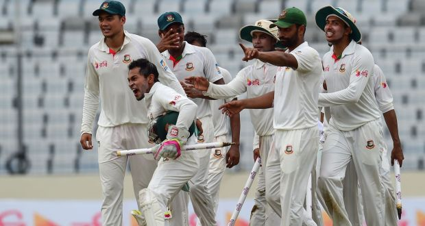 Bangladesh make history with first Test win over Australia