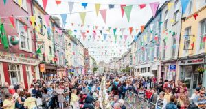 A street feast on Clonakilty's Main Street. The town was part of the winning bid for West Cork to be named Foodie Destination of the year by the Restaurants Association of Ireland. Photograph: Dermot Sullivan/clonakity.ie