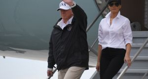 When he and Melania in their his-and-hers, salt-and-pepper baseball caps faced the television cameras in Corpus Christi, Texas, early Tuesday afternoon, he was already itching to take a victory lap. JIM WATSON/AFP/Getty Images