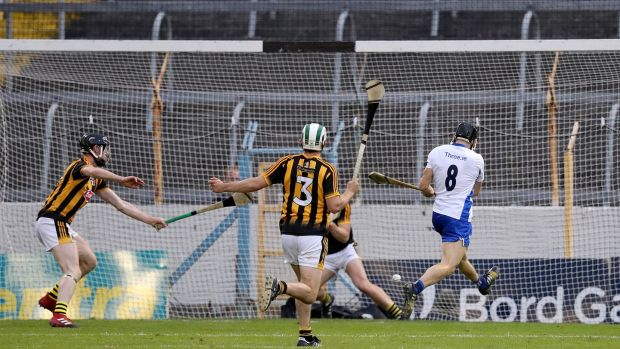 Barron buries his goal against Kilkenny. Photo: Tommy Dickson/Inpho
