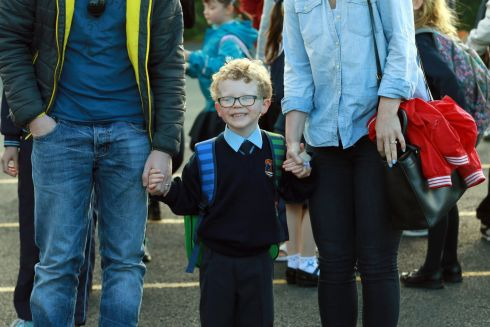 Junior Infant Joe Fahy from Dundrum at St. Olaf's NS, Balally Drive, Dundrum Co Dublin.   Photograph: Nick Bradshaw / The Irish Times